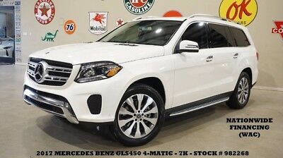 2017 Mercedes-Benz GL-Class 17 GLS450 4MATIC,SUNROOF,NAV,BACK-UP,360 CAM,HTD L 17 GLS450 4MATIC,SUNROOF,NAV,BACK-UP,360 CAM,HTD LTH,20IN WHLS,7K,WE FINANCE!!