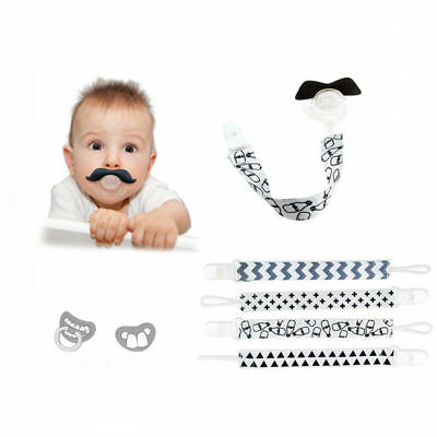 Baby Boy Girl Dummy Pacifier Soother Nipple Leash Strap Chain Clip Holder Gifts