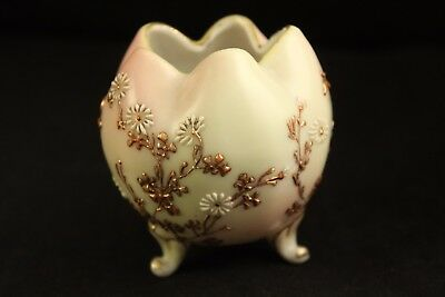 Vtg Antique Nippon Japanese Porcelain Miniature Daisy Flower Footed Rose Bowl