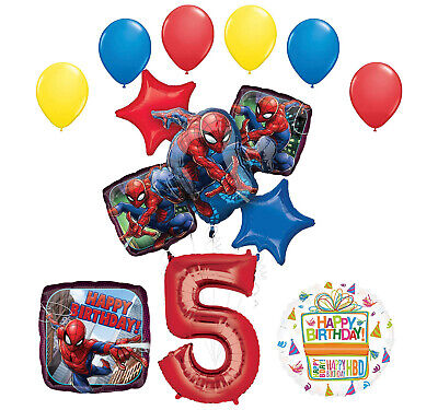 The Ultimate Spider Man 5th Birthday Party Supplies And Balloon Decorations