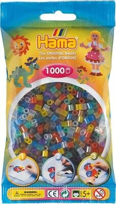 1 000 perles standard MIDI (Ø5 mm) transparent mix - Hama