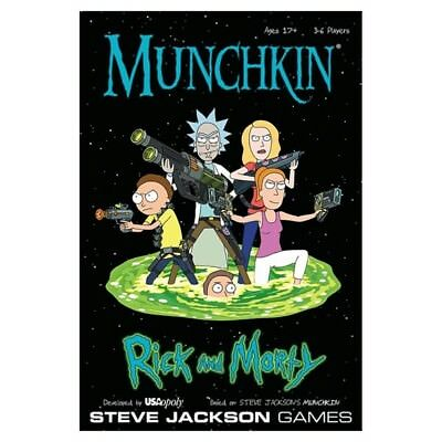 Munchkin Rick And Morty Card Game NEW Gift FREE EXPRESS POST SAME DAY DELIV