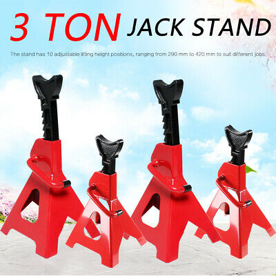 4 X 3Ton Car Jack Stand 3000Kg Adjustable Heavy Duty Lift Hoist Steel Ratchet AU
