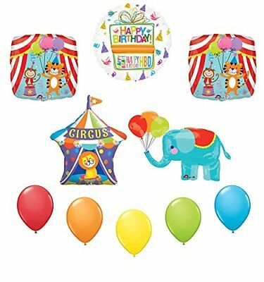 "18/"" HAPPY BIRTHDAY CIRCUS BIGTOP LION HELIUM FOIL BALLOON PARTY apac 19452-18"
