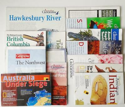 COLLECTION AUSTRALIA NATIONAL GEOGRAPHIC MAPS & POSTERS x 14 different themes