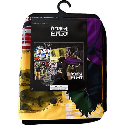 Cowboy Bebop Spike Faye Jet Ed Group Sublimation Throw Blanket Official Licensed