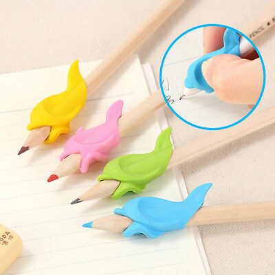 10Pc Pen Pencil Dolphin Grip Kids Handwriting Comfort Aid Right Left Handed Fish
