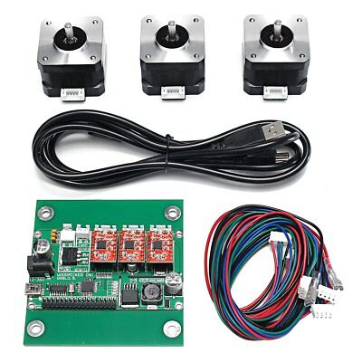3-Axis CNC Machine Parts DIY Laser Engraver GRBL Control Board+3Pc Stepper Motor