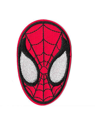 SPIDERMAN FACE IRON ON / SEW ON PATCH Embroidered Badge Cartoon MOVIE HERO PT26