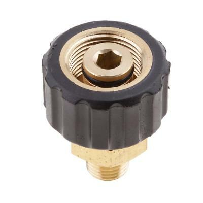 """Male 1/4"""" to Female M22x1.5 Socket 14mm Hole Brass Pressure Washer"""