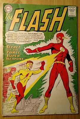 The Flash #135 (Mar 1963, DC) FIRST YELLOW SUIT KID FLASH GREAT SHAPE!