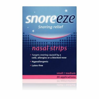 Snoreeze Snoring Relief Nasal Strips Small/Medium x10 1 2 3 6 12 Packs