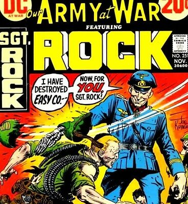 OUR ARMY AT WAR & SGT. ROCK Collected - Vintage US Army & War Comics on DVD