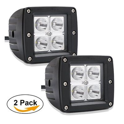 "Pair 3""x3"" Led Work Light Dodge Boat RZR ATV UTE UTV SUV Pickup Toyota Ford 4WD"