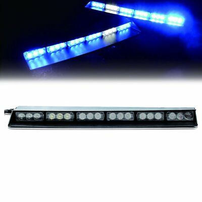 "24 LED 17""Traffic Advisor Emergency Warning Strobe Flash LED Dash Light BAR BLUE"