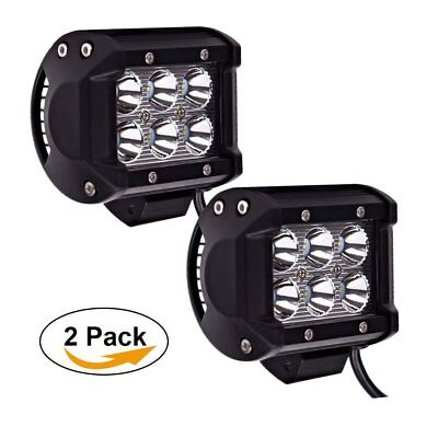 "Pair 4"" Led Spot Work Lights JEEP Wrangler Toyota Ford F150 F250 GMC Dodge Boat"