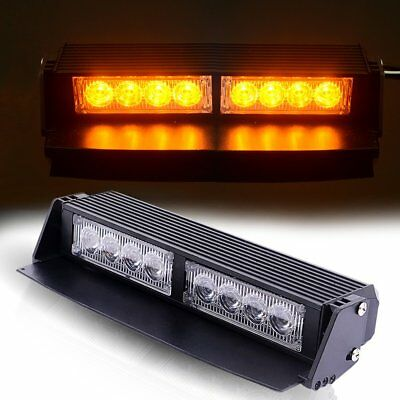 "8 LED 9""Traffic Advisor Emergency Warning Directional Flash Light Bar Kit YELLOW"