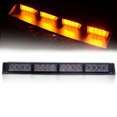 "16 LED 17"" Traffic Advisor Emergency Warning Directional Light Bar Strobe YELLOW"