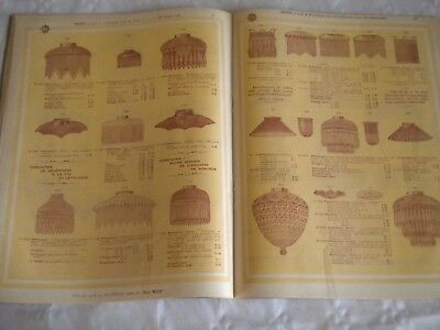 Vintage Catalogue Lamp shades glass for oil gas and electric lighting SVE 1910