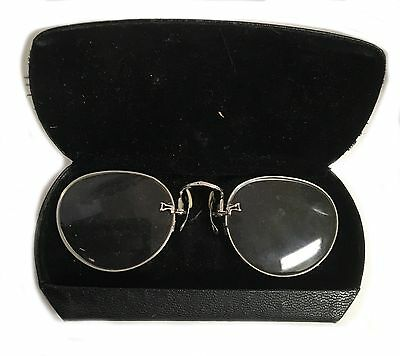 Antique Pince-nez Pince Nez GF Shuron Glasses Readers Optometry Optometrist R475