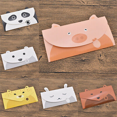 6 Pcs Lovely Cartoon Paper Envelopes Postcards Greeting Stationery School Supply