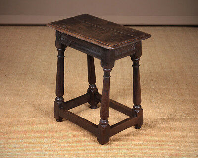 Antique Early Oak Joint Stool c.1700