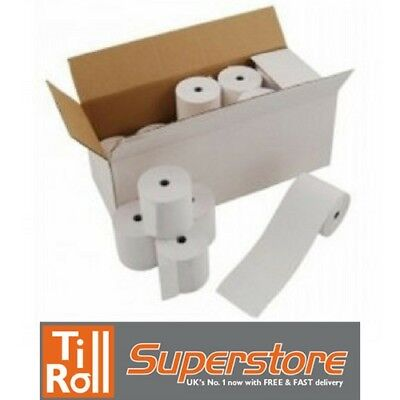 57 x 25mm Thermal Paper Till Rolls For Credit Card Machines BEST PRICE 57x25mm