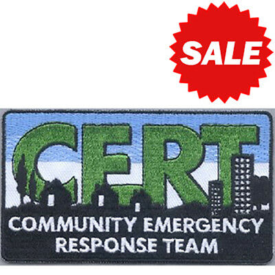 CERT Logo Embroidered Patch - Sew On or Iron On - FREE SHIPPING