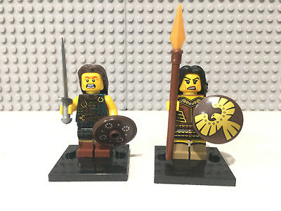 Barbarian fighters 20 X Minifigs Base Plate & Lego Brick Separator