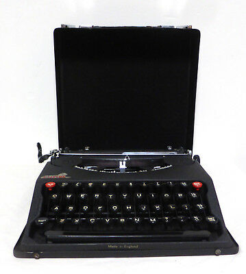 Vintage Baby Empire Portable Typewriter In Case (Late 1940s) - needs servicing