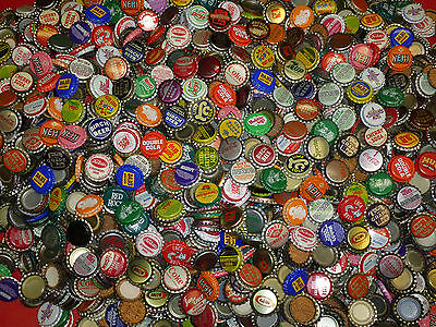 100 Vintage Soda Pop Bottle Caps 70 Different Style Ea. Lot + 10 Bonus Cork Caps