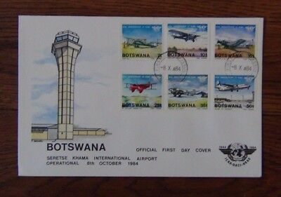 Botswana 1984 Anniversary of International Civil Aviation set on First Day Cover
