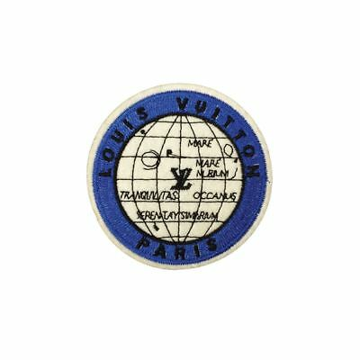 Blue Globe Geometry Patch (Iron On) Embroidery Applique Patch Sew Iron Badge