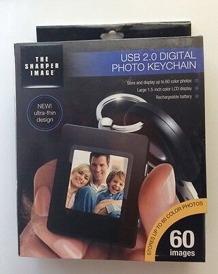 The Sharper Image USB 2.0 rechargeable LCD Digital 60 Photo Album Key chain