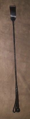 "PURE GENUINE LEATHER PONY HORSE RIDING DRESSAGE LONG WHIP/ CROP/STICK 29""(Black)"