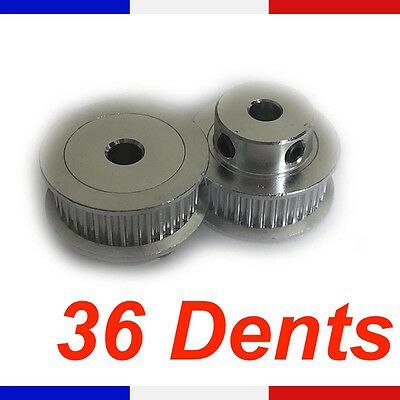 Poulie GT2 - 36 dents - axe 5 mm courroie 6mm - pour imprimante 3D Reprap pulley
