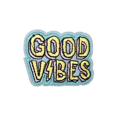 Good Vibes (Iron On) Embroidery Applique Patch Sew Iron Badge