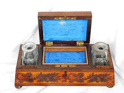 19thC Edwin Nye Tunbridge Ware Dresser Box Inlaid