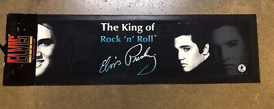 Elvis Presley - Rubber Back Bar Runner / Mat NEW The King of Rock N' Roll