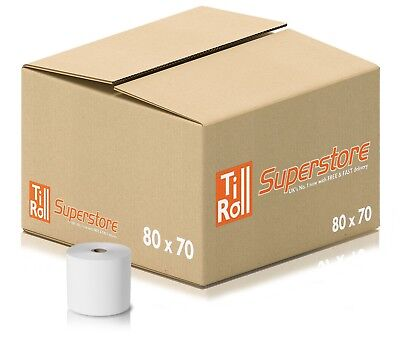 80x70 (80x80 Fit) Thermal Receipt Paper Till Roll Shopify Station Hardware