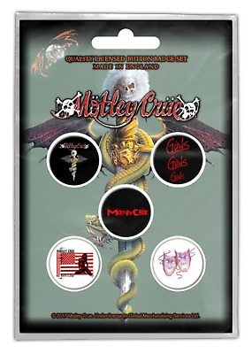 Motley Crue - 5 x 2.5cm Button Set - Dr Feelgood