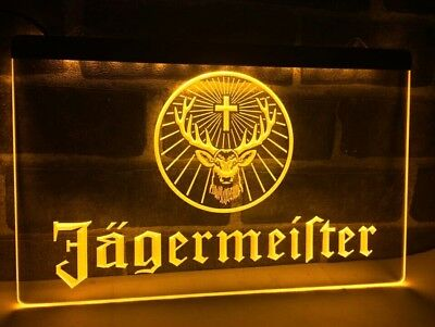 Sign Led Neon Enseigne JAGERMEISTER 7 Colors 3 Size