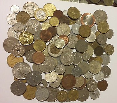 Mixed Bulk Lot of 100 Assorted World coins