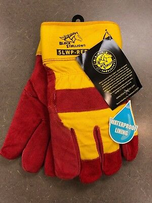 REVCO Black Stallion 5LWP-RED Cowhide Waterproof Insulated Work Gloves Large LG