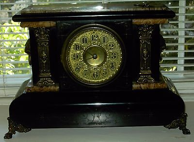 MANTLE CLOCK - MARBLEIZED - LATE 1800'S -Seth Thomas?