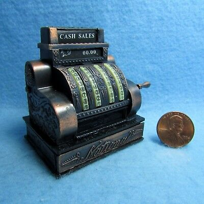 Dollhouse Miniature Metal Old Fashion Cash Register for Country Store D8757
