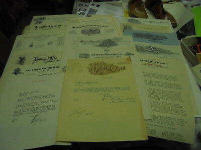 LOT OF 15 Vintage Letters GREAT LETTERHEADS  Ephemera MOSTLY IN THE 1920'S