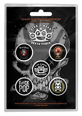 Five Finger Death Punch - 5 x 2.5cm Button Set - 5FDP