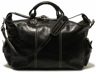 Floto Luggage Venezia Travel Tote, Black, Large, New