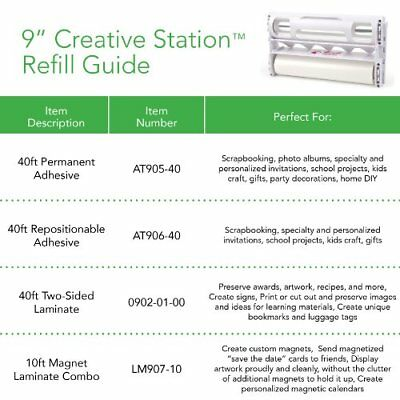 Xyron Acid-Free Permanent Adhesive Refill Cartridge for the 9-Inch Creative Stat